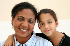Woman and Daughter Stock Photo