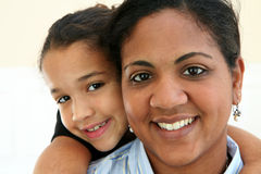 Woman and Daughter Stock Photos