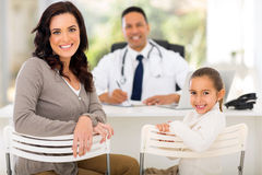 Woman daughter doctor Stock Images