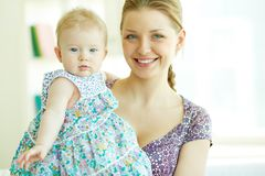 Woman with daughter Royalty Free Stock Images