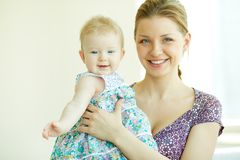Woman with daughter Royalty Free Stock Photo
