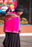 Woman and daughter at the Otavalo market, Ecuador Royalty Free Stock Images