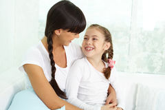 Woman with daughter Royalty Free Stock Photography
