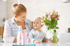 Woman with daughter Royalty Free Stock Image