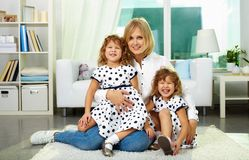 Woman with daughters Stock Photography