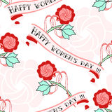 Woman day art deco seamless pattern. Royalty Free Stock Images