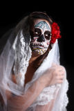 Woman with Day of the Dead Face Paint Stock Photos