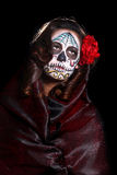 Woman with Day of the Dead Face Paint Royalty Free Stock Photography