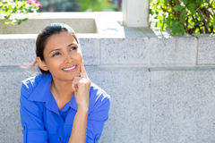 Woman day dreaming Stock Photography