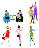 Woman day lifestyle icons Stock Photography