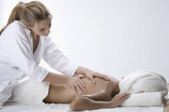 Woman in a day spa Stock Images
