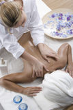 Woman in a day spa Stock Photography
