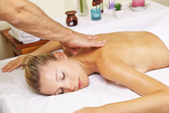 Woman in day spa receiving thai Royalty Free Stock Image