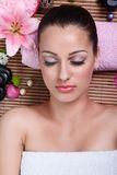 Woman in a day spa Royalty Free Stock Image
