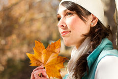 Woman daydreaming Stock Images