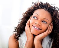 Woman daydreaming Royalty Free Stock Photo
