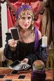 Woman Dealing Tarot Cards Royalty Free Stock Photo