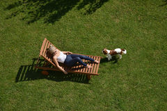 Woman on a Deckchair Royalty Free Stock Photo