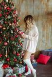 Christmas and people stock photos