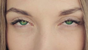 Woman With Deep Green Eyes stock video footage