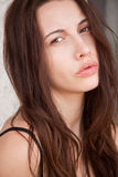 Woman with a deep piercing eyes Royalty Free Stock Photo