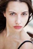 Woman with a deep piercing eyes Stock Photos