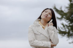 Woman deep in thought. Royalty Free Stock Image