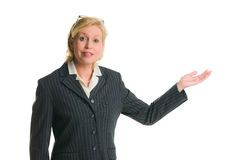 Woman demonstrate Royalty Free Stock Images