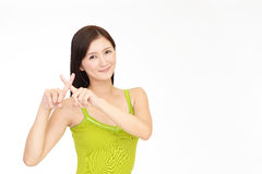 Woman demonstrating prohibiting gesture Royalty Free Stock Photo