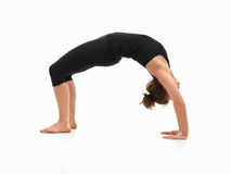 Woman demonstrating yoga pose Stock Photo