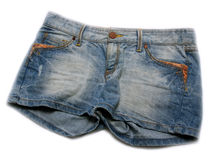 Woman denim short Royalty Free Stock Image