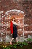 Woman in denim skirt  Stock Photos