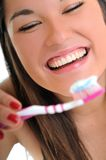Woman dental care Stock Photos