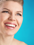 Woman dental care Stock Images