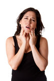 Woman with dental jaw pain Royalty Free Stock Photography