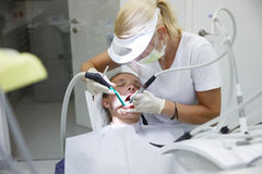 Woman at dental office Royalty Free Stock Photos