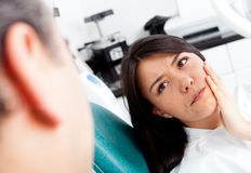 Woman at the dentist Royalty Free Stock Photography