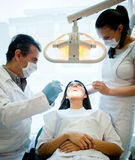 Woman at the dentist Royalty Free Stock Images
