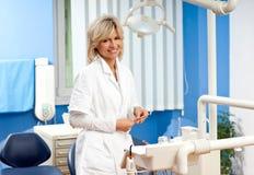 Woman dentist Stock Photo