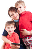 Woman dentist and kids Royalty Free Stock Image