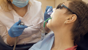 Woman at the dentist medical clinic office Stock Photo