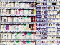Woman Deodorant Spray On Supermarket Stand Stock Photos