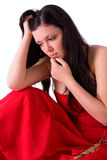 Woman is depressed Royalty Free Stock Photo