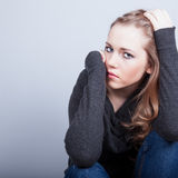 Woman Depressed Royalty Free Stock Image