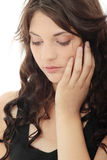 Woman with depression Stock Photography
