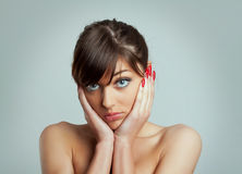 Woman with depression Royalty Free Stock Photography