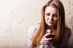 Woman in depression Royalty Free Stock Images