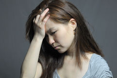 Woman in depression and despair Royalty Free Stock Image