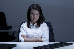 Woman with depression Royalty Free Stock Image