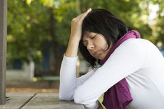 Woman in depression Stock Photography